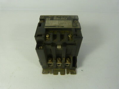 Square D 8536-SB02 Contactor 110/120V Coil No Overload ! AS IS !