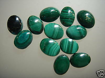 Cabochon Gemstone Malachite 6 x 8 mm Oval  (Pkg 15)