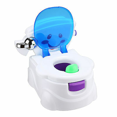 2 in 1 Baby Potty Toilet Trainer Training Chair Seat Kid Toddler Music Removable