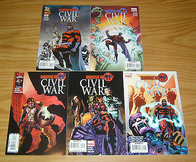 House of M: Civil War #1-5 VF/NM complete series - christos gage 2 3 4 magneto
