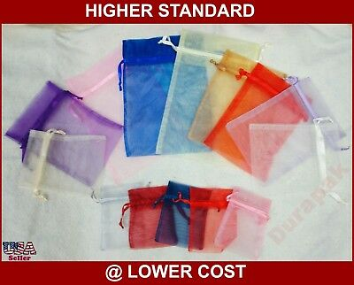 """20~ 5x7"""" Organza Fabric Bag Party Wedding Favor Baby Shower Packing Bags Red etc"""