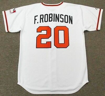 37c2dd2b6ac FRANK ROBINSON Baltimore Orioles 1969 Majestic Cooperstown Home Baseball  Jersey