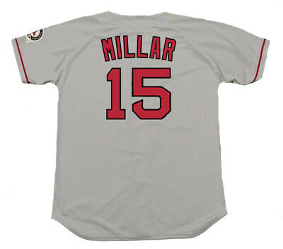 0a460e7a6 KEVIN MILLAR Boston Red Sox 2004 Majestic Throwback Away Baseball Jersey