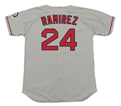 b3fb35fad MANNY RAMIREZ Boston Red Sox 2004 Majestic Throwback Away Baseball Jersey