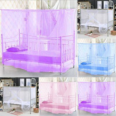 4 Corner Post Bed Canopy Mosquito Net Twin Full Queen King Size Netting Bedding