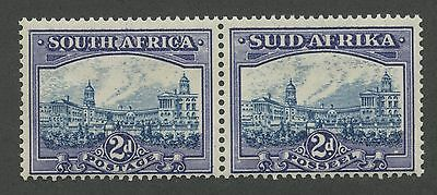 South Africa 1938 2p blue violet & dark blue pair Sc #53 mlh