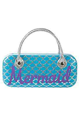 Justice Girl's MERMAID Glasses Case Sapphire Blue NWT