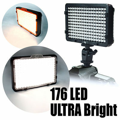pro 176 New Lighting LED Camera Video Lamp Light for Canon Nikon Pentax SLR DSLR