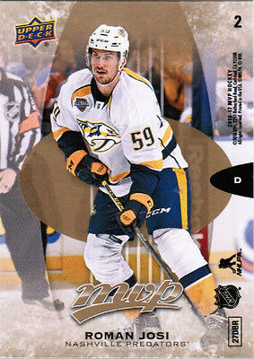 16/17 UD MVP HOCKEY BASE PUZZLE BACK PARALLEL CARDS (#1-63) U-Pick From List