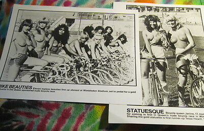 """Queen - Bike Beauties - 2 Promo 8 X 10"""" Photo's From Bicycle Race - K @@ L"""