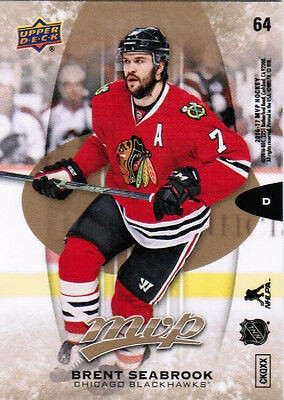 16/17 UD MVP HOCKEY BASE PUZZLE BACK PARALLEL CARDS (#64-136) U-Pick From List