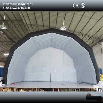 6mW x 4mD x 4mH INFLATABLE STAGE TENT.