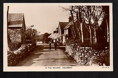 Talybont - in the Village - real photographic postcard