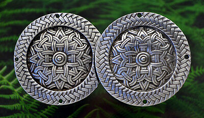 Celtic Viking Pewter Cloak Clasp -Medieval/Norse/Handcrafted #0947