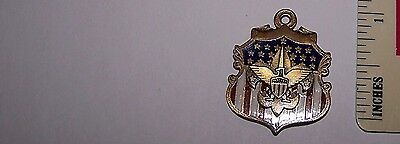 Boy Scout Scouting Eagle BSA Troop Club Honor Patriot Watch Fob Charm Pendent BS