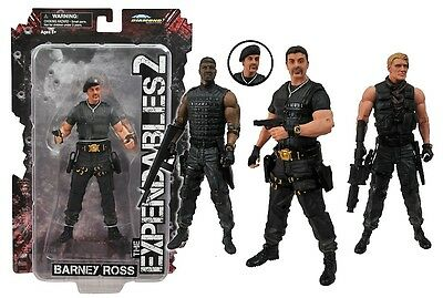 """THE EXPENDABLES 2 - 7"""" Action Figure Set (4) by Diamond Select Toys #NEW"""