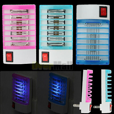 110V Electric LED Mosquito Fly Bug Insect Trap Zapper Killer Night Lamp Light US