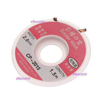 1 x Desoldering Braid Solder Remover Wick CP-2015 5 ft. 2.0mm New Useful CA
