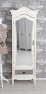kleiderschrank shabby chic w scheschrank weiss spiegelschrank antik eur 249 00 picclick de. Black Bedroom Furniture Sets. Home Design Ideas