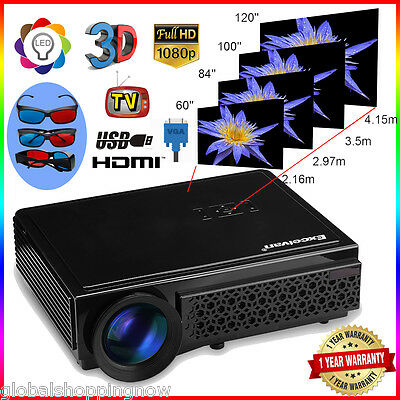 5000 Lumens LED Videoproiettore 1080P 1920*1080 Projector Home Cinema Theater
