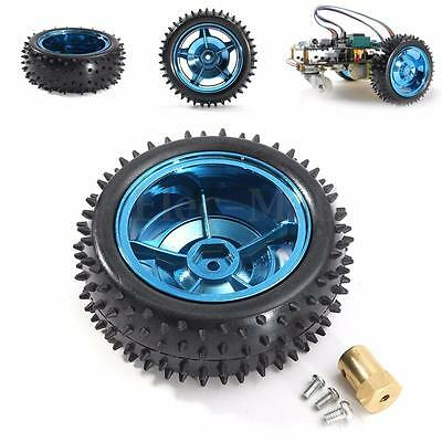 85mm Non-slip Smart Car Robot Plastic Tire Wheel With 6mm Coupling For Arduino