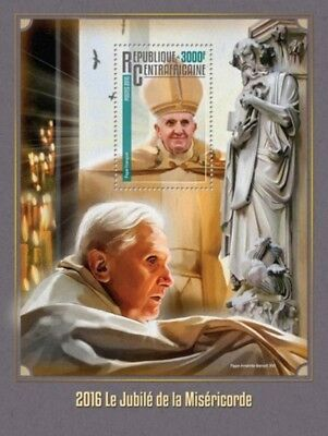 Central Africa - 2016 Jubilee of Mercy - Souvenir Sheet - CA16315b