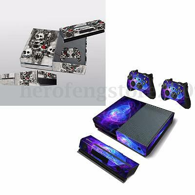 Sticker Skin Cover Protector Wrap For Xbox One Console + 2 Controllers + Kinect
