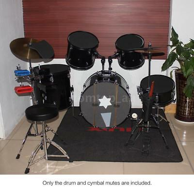 NEW Drum Set Silencer Practice Pads Mute with Cymbal Mutes Durable F3W6