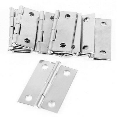 """New 10pcs Cabinet Drawer Door Stainless Steel Butt Hinges 1.5"""" Length"""