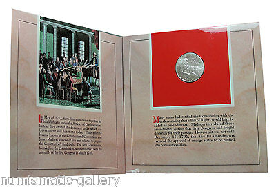 US 1993 Bill of Rights SILVER Half Dollar Coin and Presidential Medal Set