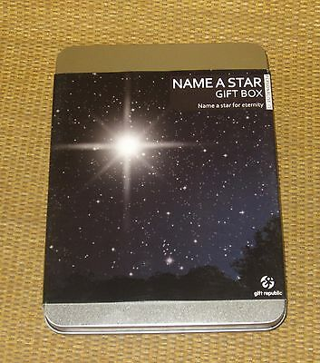 Name A Star   *NEW* Box Gift Republic - Name   Register   Star Deed Certificate