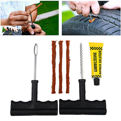 Car Motor Truck Tubeless Radial Tire Repair Kit Cement Strong Practical
