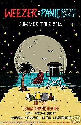 "WEEZER/PANIC AT THE DISCO ""SUMMER TOUR 2016"" OKLAHOMA CONCERT POSTER -Indie Rock"
