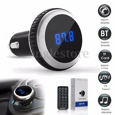 LCD Bluetooth Sans Fil Voiture Kit Main Libre FM Transmetteur MP3 32GB TF + Mic