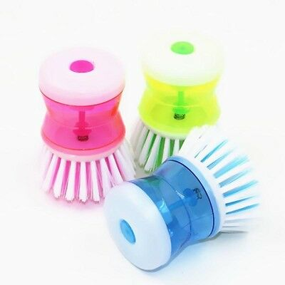 Home Kitchen Washing Pot Dish Brush Wash Up Tool with Liquid Soap Dispenser