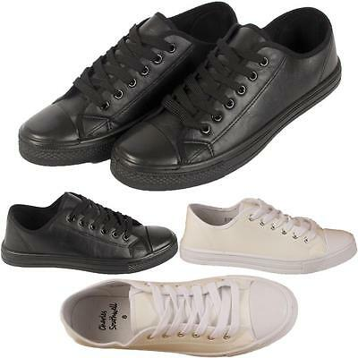 New Mens Boys Lace Up Casual Sports Trainers Plimsolls Sneakers Shoes Sizes Uk