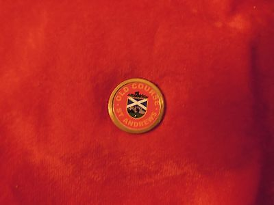St Andrews Old Course Scotland Red Golf Ball Marker With Back Peg