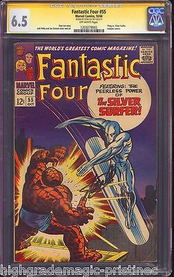 Fantastic Four #55 Cgc 6.5 Ss Stan Lee Signed Stan Lee Story Cgc #1203279002
