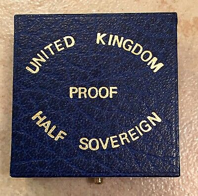 United Kingdom Gold Proof Half Sovereign Royal Mint Box -No Coins-