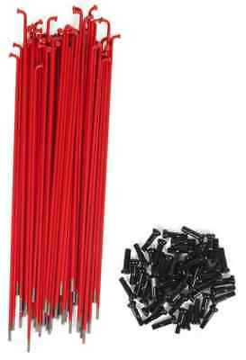 38 x SHADOW CONSPIRACY BMX BIKE BICYCLE SPOKES 186mm NIPPLES INCLUDED RED NEW