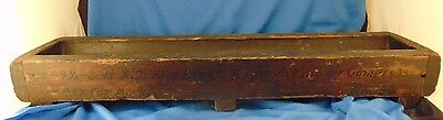 Antique N I Works wood factory mold foundry industrial vtg mercantile cast art