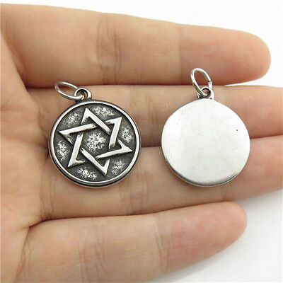 9932 Antique Pewter Stainless Steel Triangle Egyptian Eye Amulet Collar Necklace