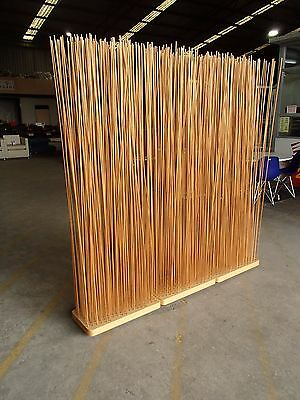 Designer 3 Piece Free Standing Timber Stick Screen Space Partition/Room Divider