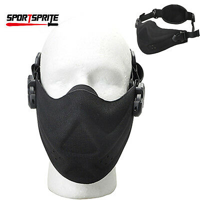 Military Outdoor Men's  Hunting Paintball Mask Half Face Protector Mouth Cover