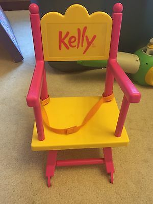 My Size (16 inch) Kelly Doll High Chair Converts To Desk ~ Mattel ~ Barbie