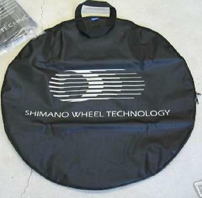 Wheel Bag Black with White Print SHIMANO - Round Shape (Single)