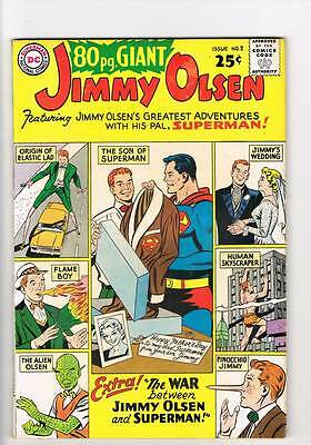 Eighty Page Giant # 2 War Between Jimmy Olsen and Superman ! grade 5.0 hot book!