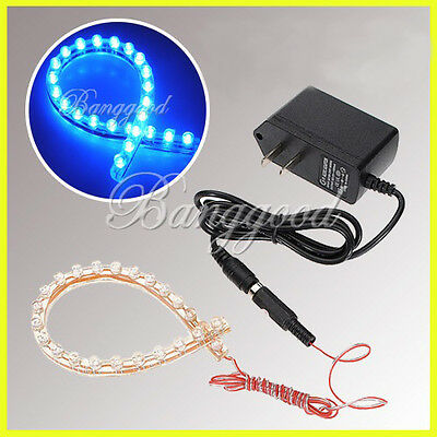BLEU 24 LED 24cm Bande Flexible Lampe Tuning ECLAIRAGE AQUARIUM POISSON Etanche