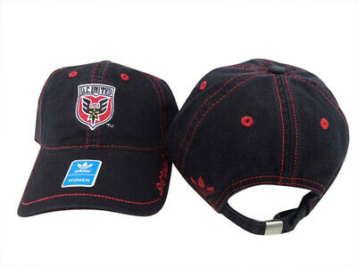9b6d82a695792 D.C. United Adidas MLS Stitch Slouch Womens Black Adjustable Hat Cap OSFA
