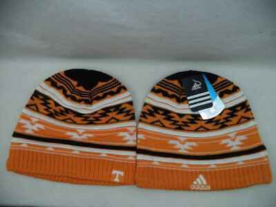 ba495c9facf Tennessee Volunteers Adidas NCAA Cuffless Knit Stripe Beanie Toque Hat Cap